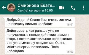 отзыв от Смирновой Екатерины